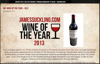 James Suckling-Domaine de Chevalier 2010 Wine of the Year