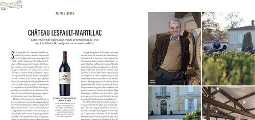Vigneron Magazine Lespault cap.