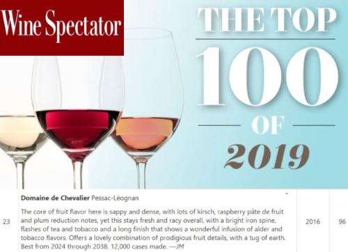 Top 100_ Wine Spectator - Domaine de Chevalier