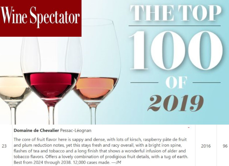 Top 100_ Wine Spectator - Domaine de Chevalier